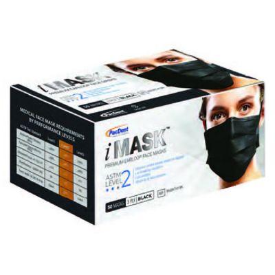 iMask Level 2 Black Face Masks