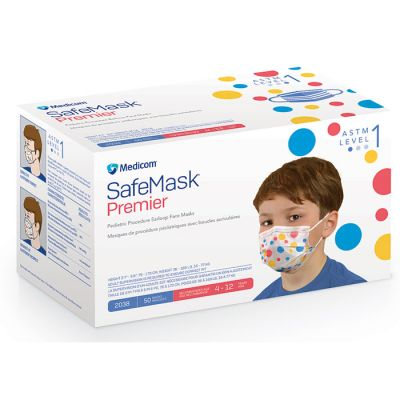 SafeMask® Premier Pediatric Earloop Face Masks