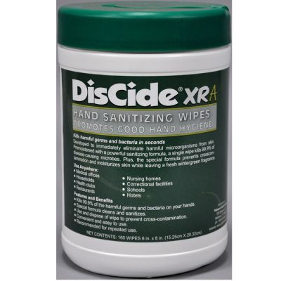 DisCide-XRA Hand Sanitizing Towelettes