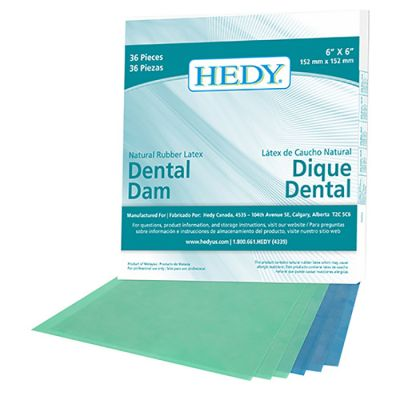 Hedy Natural Rubber Latex Dental Dams