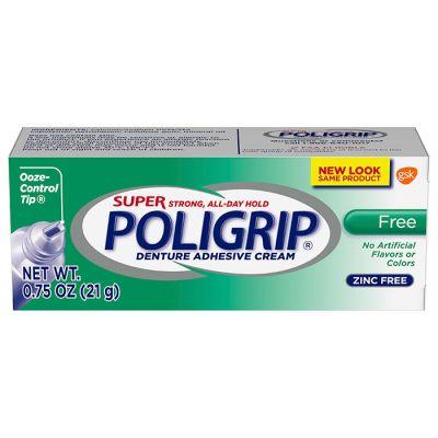 Super Poligrip® Free Denture Adhesive Cream